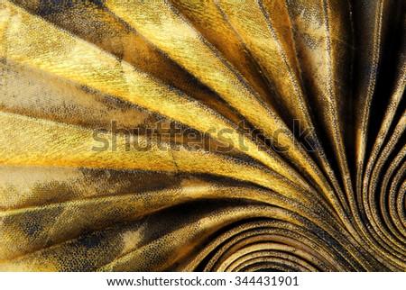 pleated fabric texture - stock photo