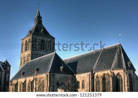 Plechelmus Church in Oldenzaal, The Netherlands - stock photo