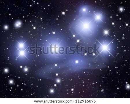 Pleiades - stock photo