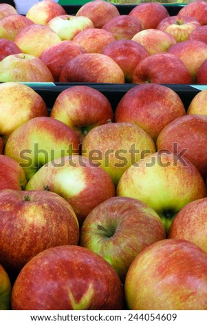 Plenty of apples in the food store  - stock photo