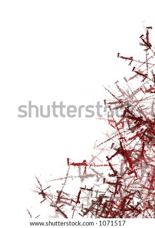 plenty of room for delicate position of design elements - stock photo
