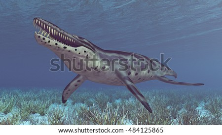 Pliosaur Kronosaurus Computer generated 3D illustration