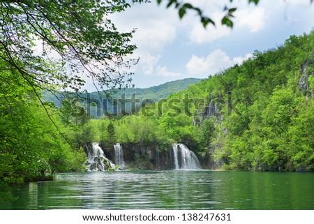 Plitvice lakes, Croatia - stock photo