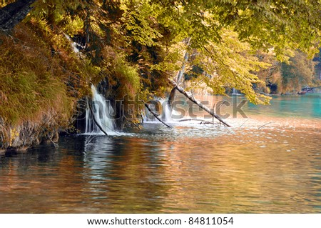 Plitvice Lakes National Park in autumn - Croatia