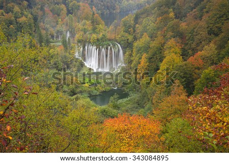 Beautifull bird stock images royalty free images vectors plitvice lakes of croatia national park in autumn bird view of one of the sciox Image collections