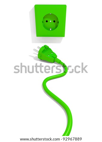Plug and socket. - stock photo