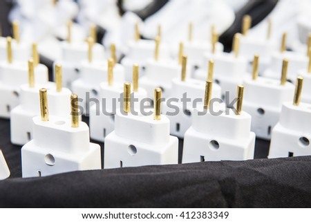 Plug connector - stock photo