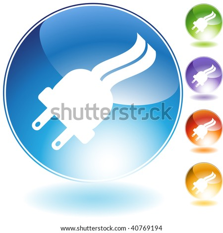 Plug crystal icon isolated on a white background.