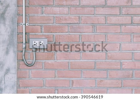 plug socket power in house - stock photo