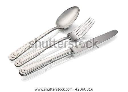 Plug, the spoon, a knife - stock photo
