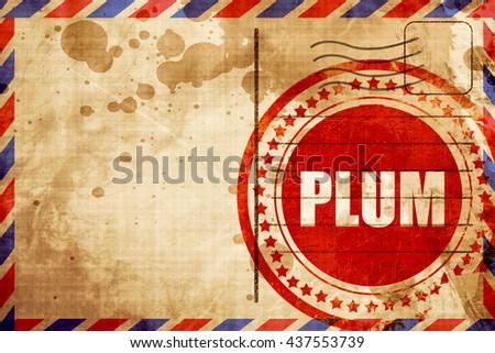 plum - stock photo