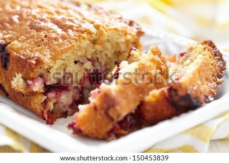 Plum oatmeal cake - stock photo