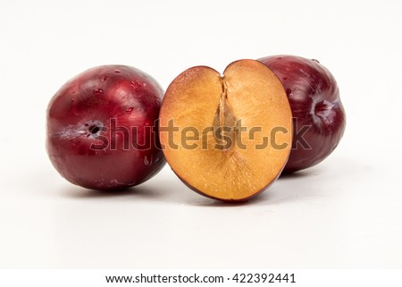 plum with white background