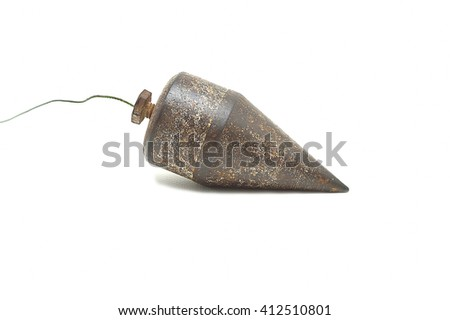 Plumb vertical on white background - stock photo