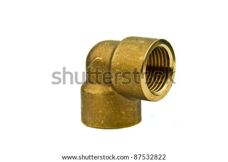 Plumber material , elbow isolated on white - stock photo