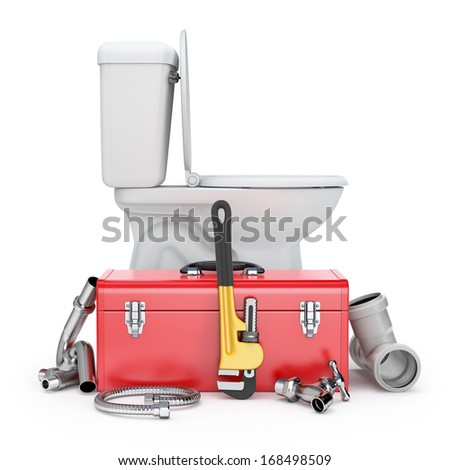 Plumber tools - stock photo