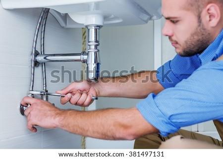 Plumbing. - stock photo