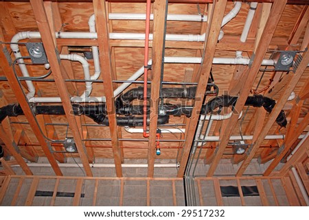 Plumbing plans stock images royalty free images vectors for New construction plumbing