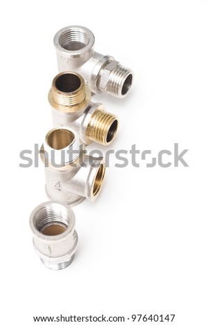 Plumbing pipes isolated on a white background