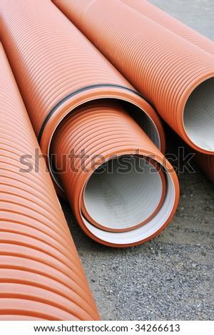 Plumbing tubes - stock photo