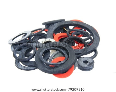 Plumbing Washers Selection - stock photo