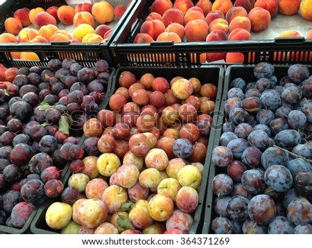 plums and nectaries on the market