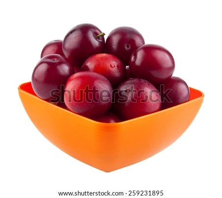 plums are isolated on a white background - stock photo
