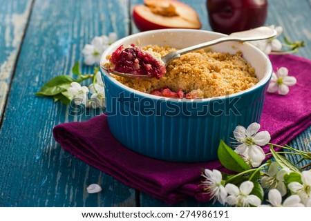 ... crumble peach crumble pie comments on michelle s plum crumble pie plum