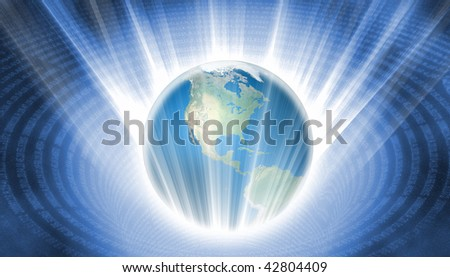 Plunging Earth - stock photo