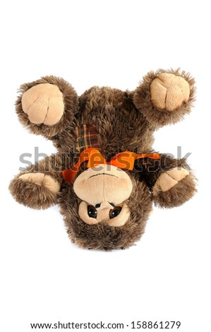 plushy monkey toy - stock photo