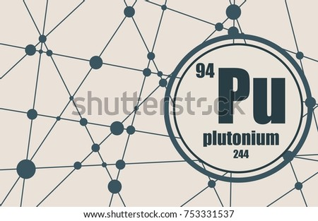 Plutonium Chemical Element Sign Atomic Number Stock Illustration