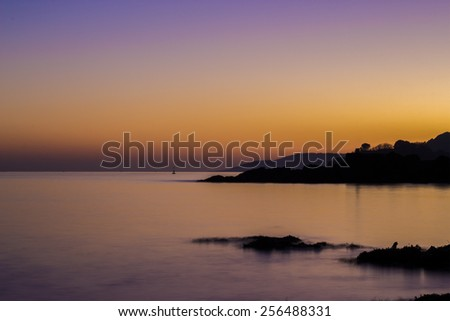 Plymouth Coast at Sunset - stock photo