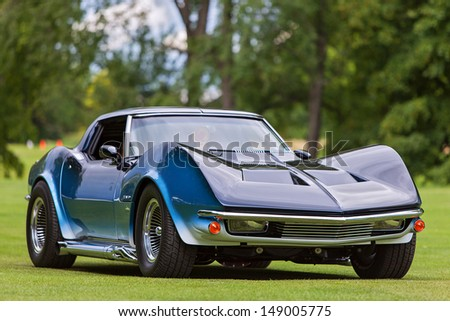 PLYMOUTH - JULY 28: The 1980 Corvette maco on display July 28, 2013 at the Councors D'Elegance in Plymouth, Michigan. - stock photo