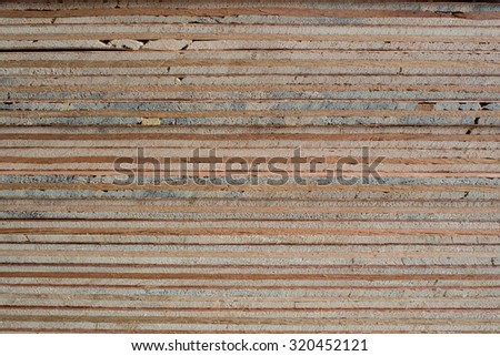 Plywood layer as background.