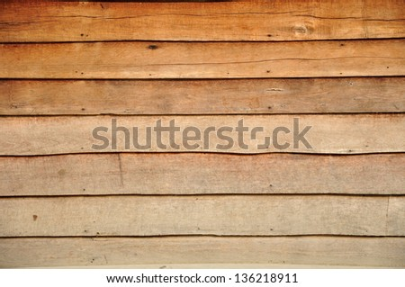 Plywood wall background texture. - stock photo