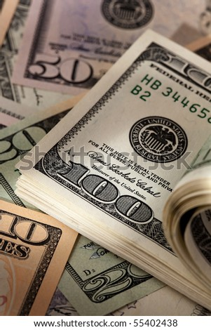 pn[92KHRGG] U.S. dollars bills. Currency of the United States - stock photo