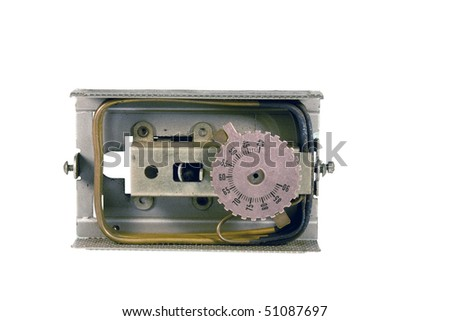 pneumatic operated thermostat isolated over white with clipping path at this size