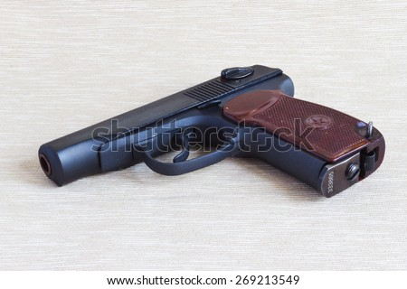 Pneumatic pistol of Makarova - copy combat. - stock photo
