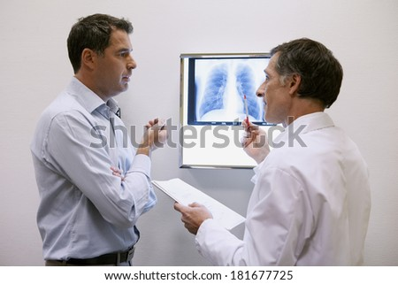 Pneumology Consultation Man