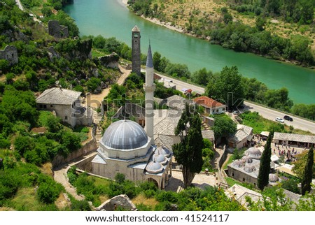 Pocitelj mosque - stock photo