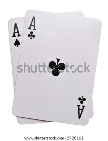 Pocket Aces Isolated on white background - stock photo