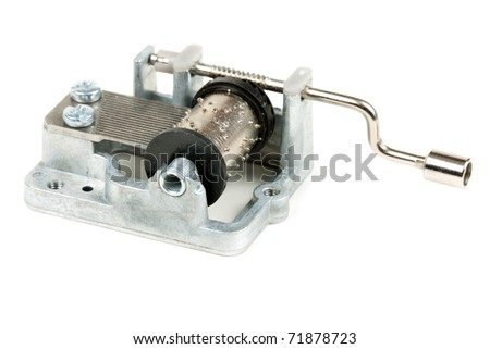 pocket barrel organ isolated on a white background