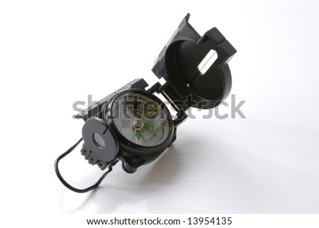 pocket compass - stock photo