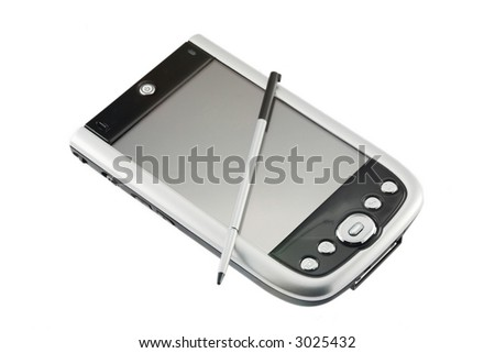 Pocket computer - stock photo