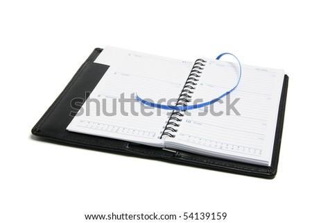 Pocket Diary on White Background - stock photo