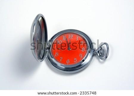 Pocket hours isolated on white background - stock photo