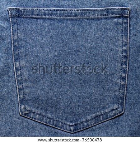 Pocket of jeans - stock photo