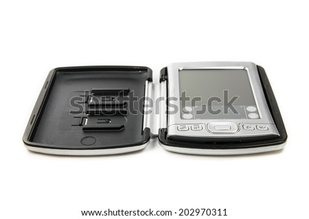 Pocket PC on white background - stock photo