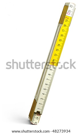 pocket rule - stock photo