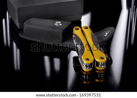 Pocket set/Pocket set on dark background - stock photo